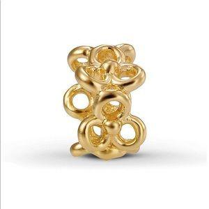 Pandora 14k gold trinity charm